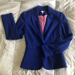 Lilly Pulitzer knit blazer in royal blue!!